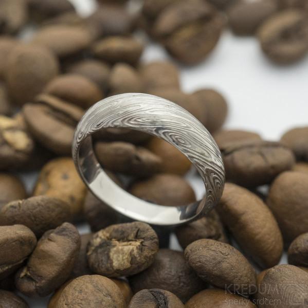 Siona voda SV - pro kámen - 49, šířka hlavy 5,5 mm, do dlaně 3 mm - Damasteel zásnubní prsten, SK2706 (5)