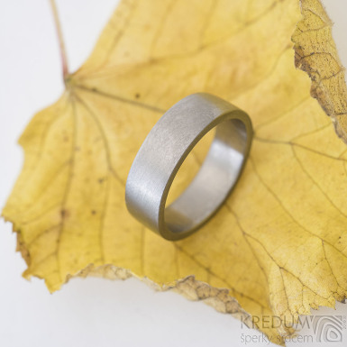 Klasik titan matný - kovaný titanový prsten, produkt SK2391
