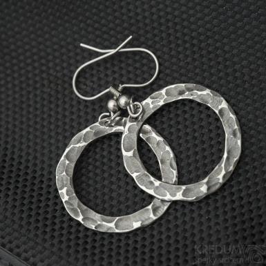 Rings - Kované nerezové náušnice, SK3242