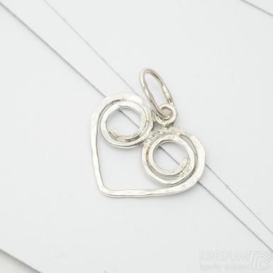 Srdíčko - Stříbrný přívěsek, SK3385