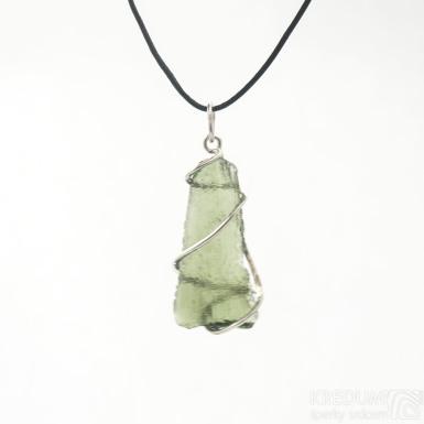 Stříbrný přívěsek a vltavín, SK3390