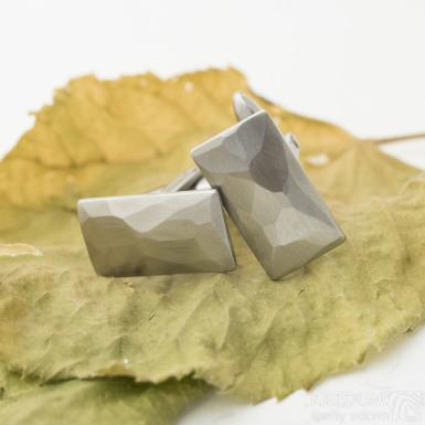 Skalák - matné - Kované nerezové manžetové knoflíky, SK3145