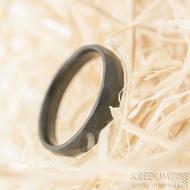 Skalák matný DLC - velikost 59 CF, šířka 4,6 mm, tloušťka 1,7 mm - Nerezové snubní prsteny - SK1166 (4)
