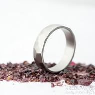 Skalák matný - velikost 64, šířka 6,2 mm, tloušťka 1,5 mm - Kovaný nerezový snubní prsten, SK2121 (5)