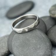 Skalák titan a diamant 1,5 mm - vel 52, šířka 3,5 mm, lesklý - Snubní prsteny z titanu - et 1795 (4)