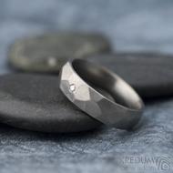 Skalák titan a diamant 1,7 mm - Veikost 52 s vnitřním zaoblením, šířka 5, tloušťka střední (do 2 mm), matný - k 1311 (2)