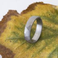 Skalák titan matný - 61, šířka 5 mm, tloušťka slabá - Titanový snubní prsten - k 2498 (2)