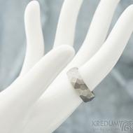 Skalák titan matný - velikost 54, šířka 6,4 mm, tloušťka 1,9 mm - Snubní prsteny z titanu - sk1970 (2)