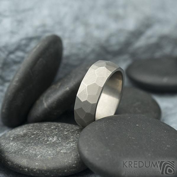 Skalák titan matný - velikost 54, šířka 6,4 mm, tloušťka 1,9 mm - Snubní prsteny z titanu - sk1970 (3)
