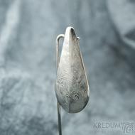 Slza - Přívěsek z nerezové oceli damasteel, SK2110 (3)