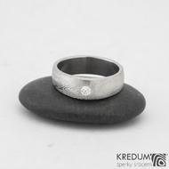 Snubní prsteny damasteel Siona 2,7mm  53 5,5mm 75SV leštěné boky k 0919 (2)