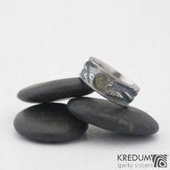 Snubní prsteny damasteel Víla vod - vltavín, 57 8 mm 75TM k 0919 (7)