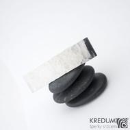 Linka draill lesklá - základ 5 cm, šíře 1,2 cm - Nerezová spona do vlasů