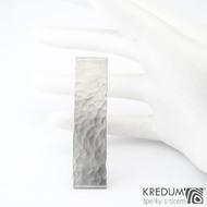 Linka draill matná - základ 5 cm, šíře 1,2 cm - Nerezová spona do vlasů