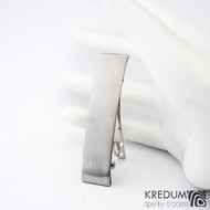 Linka klasik matná - základ 5 cm, šíře 1,2 cm - Nerezová spona do vlasů