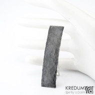 Linka draill tmavá - základ 5 cm, šíře 1,2 cm - Nerezová spona do vlasů