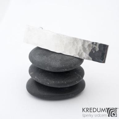 KinderLinka draill lesklá - základ 5 cm, šíře 9 mm - Nerezová spona do vlasů