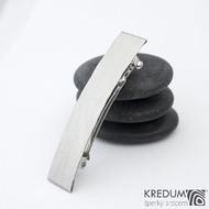 Linka draill matná - základ 5 cm, šíře 9 mm - Nerezová spona do vlasů