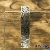 Linka Archeos - základ 10 cm, šíře 2 cm - Tepaná nerezová spona do vlasů