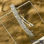 Linka Archeos - základ 10 cm, šíře 1,2 cm - Tepaná nerezová spona do vlasů