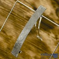 Linka draill tmavá - základ 10 cm, šíře 1,2 cm - Nerezová spona do vlasů