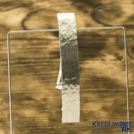 Linka draill matná - základ 10 cm, šíře 1,6 cm - Nerezová spona do vlasů