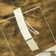 Hladká Linka lesklá  - základ 10 cm, šíře 2 cm - Nerezová spona do vlasů