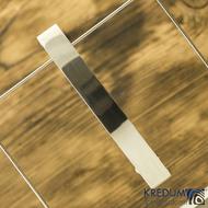 Linka klasik lesklá - základ 10 cm, šíře 1,2 cm - Hladká nerezová spona do vlasů