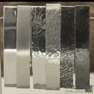 Hladká Linka matná - základ 10 cm, šíře 1,6 cm - Nerezová spona do vlasů