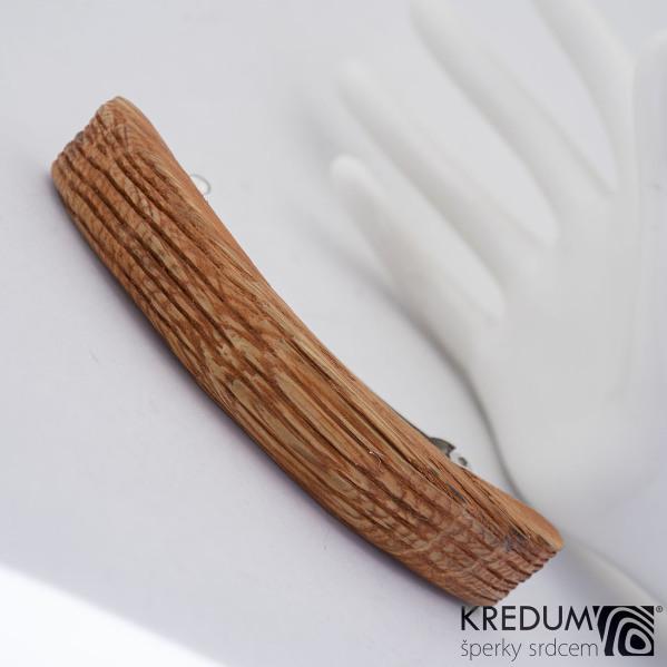 Buková - Ručně vyrobená dřevěná spona, SK1231