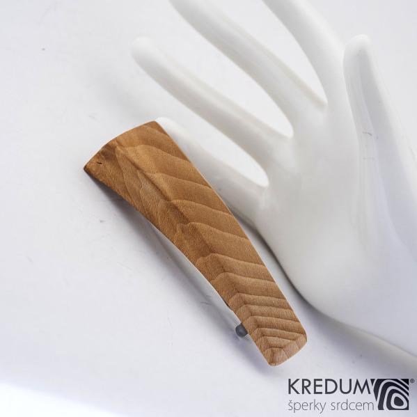 Buková - Ručně vyrobená dřevěná spona, SK1233
