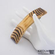 Smrková - Ručně vyrobená dřevěná spona, SK1234