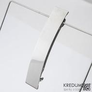 Linka klasik lesklá - základ 8 cm, šíře 1,6 cm - Nerezová spona do vlasů