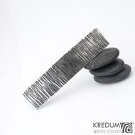 Linka wood tmavý - základ 8 cm, šíře 1,9 cm - Nerezová spona do vlasů