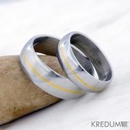 Steelgold - snubní prsteny nerezová ocel a ryzí zlato