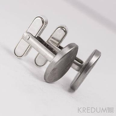 Stříbrné zapínání k manžetovým knoflíčkům