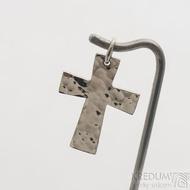 Tepaný křížek - Přívěsek z bílého zlata - fl 3887380 (4)