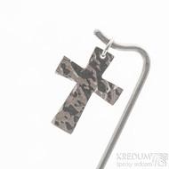 Tepaný křížek - Přívěsek z bílého zlata - fl 3887380 (5)