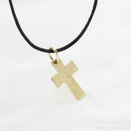Tepaný křížek - Přívěsek ze žlutého zlata, SK2960