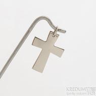 Tepaný křížek z bílého zlata - Zlatý přívěsek -fl 3887380 (4)
