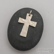 Tepaný křížek z bílého zlata - Zlatý přívěsek -fl 3887380 (5)