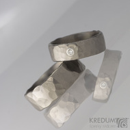 Draill titan a broušený moissanite 2 mm do stříbra