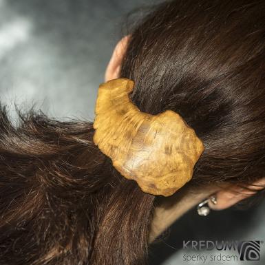 Topolová - Ručně vyrobená dřevěná spona, SK1518