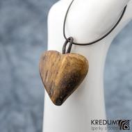 Topolové srdce - Ručně vyrobený  dřevěný přívěsek, SK1527