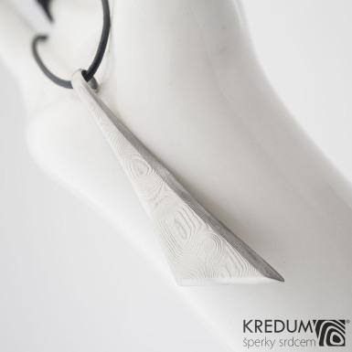 Triana long - Kovaný přívěsek damasteel, SK1201