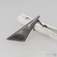 Triana - kovaný přívěsek damasteel - dřevo - zatmavený