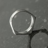 Tulipus a čirý diamant 1,7 mm - Damasteel zásnubní prsten, S831 - velikost 48,5 - TW lept 75 SV (4)