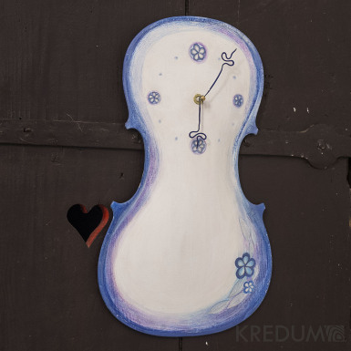 Větší časová harmonie - malované houslové hodiny