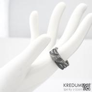 Víla vod - Zásnubní prsten damasteel, SK1352