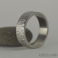 Wood světlý - velikost 61, šířka 7 mm, tloušťka 1,7 mm - Nerezové snubní prsteny, S1134 (2)